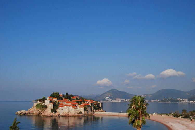 Sveti Stefan on the Adriatic coast, Montenegro Islet SvetiStefan Adriatic Coast Adriatic Sea Coast Hotel Montenegro Outdoors Resort Sky Sveti Stefan Tranquility Water