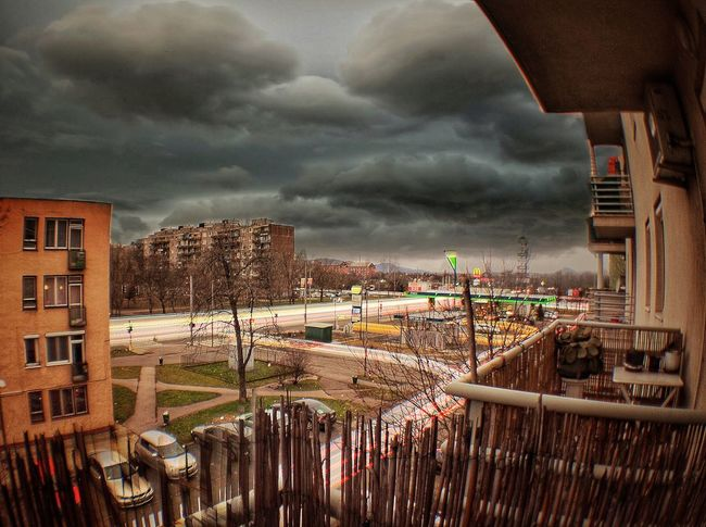 iPhone 7 Plus,Olloclip Super-Wide,Snapseed Built Structure Cloud - Sky Architecture Sky Building Exterior Storm Cloud City No People Outdoors Cityscape Day Nature