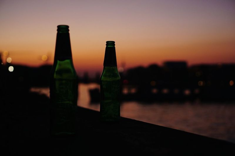 Weekend Friday Berlin Photography Berlin Beer Sunset Sky Alcohol Drink Bottle No People Food And Drink Refreshment Orange Color Architecture Focus On Foreground Container Nature Silhouette Built Structure Glass Glass - Material Beer Bottle Outdoors The Street Photographer - 2018 EyeEm Awards