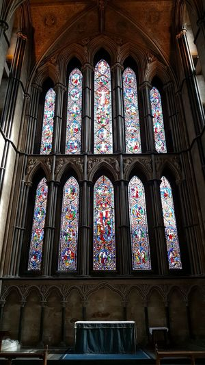 Samsungphotography Samsung Galaxy S6 Cathedral Worcester Cathedral Worcester Multi Colored Place Of Worship Spirituality Religion Window Stained Glass Architecture Built Structure Close-up Historic History Historic Building