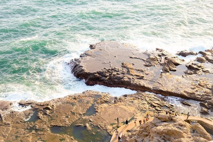 Seaside fun Sea Water Rock - Object Wave Nature Beach Aerial View Aerial Shot Aerial Photography Aerial Cliff Cliffside Tidal Basin Tidal Pool Beauty In Nature Tourist Destination Tourism Tourist Japan Photography Japan Beauty In Nature Outdoors Sand Scenics Sky
