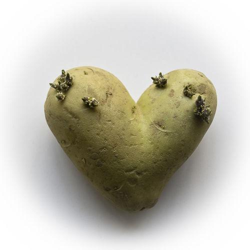 Food Food And Drink Freshness Healthy Eating Heart Shape Potato Studio Shot Vegetable White Background