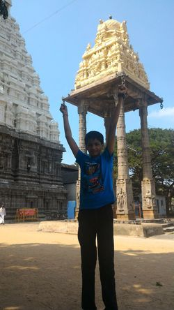 Temple Tricky Pic Fun One Man Only Cultures One Person Outdoors Front View Architecture Religion