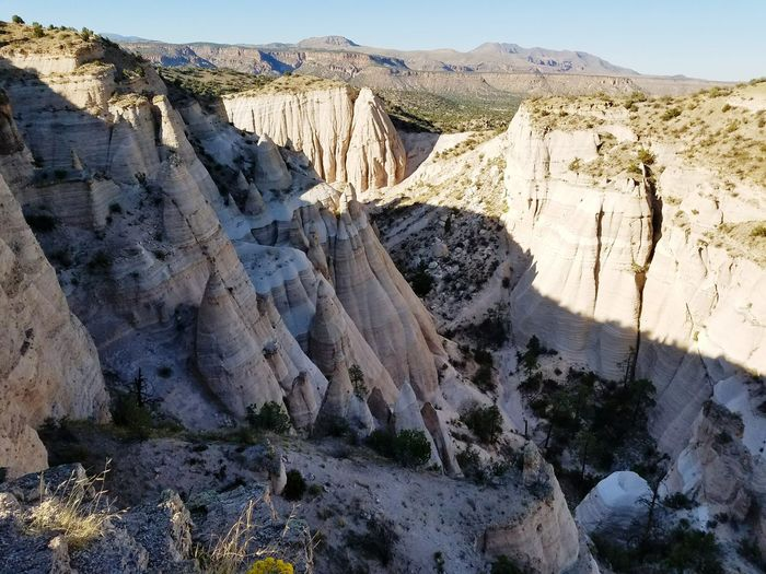 Tent Rocks Cochiti Pueblo, Nm New Mexico, USA Mountain Tranquil Scene Scenics Rock Formation Beauty In Nature Non-urban Scene Rock - Object Remote Nature Travel Destinations Mountain Range Rough Idyllic Hello World Samsung Galaxy S7 Edge No Edit, No Filter, Just Photography Hiking Trip Hiking, Mountains, Adventure Serene Tranquil Outdoors High Angle View Outdoors Photograpghy  WOW The Great Outdoors - 2017 EyeEm Awards Breathing Space The Week On EyeEm