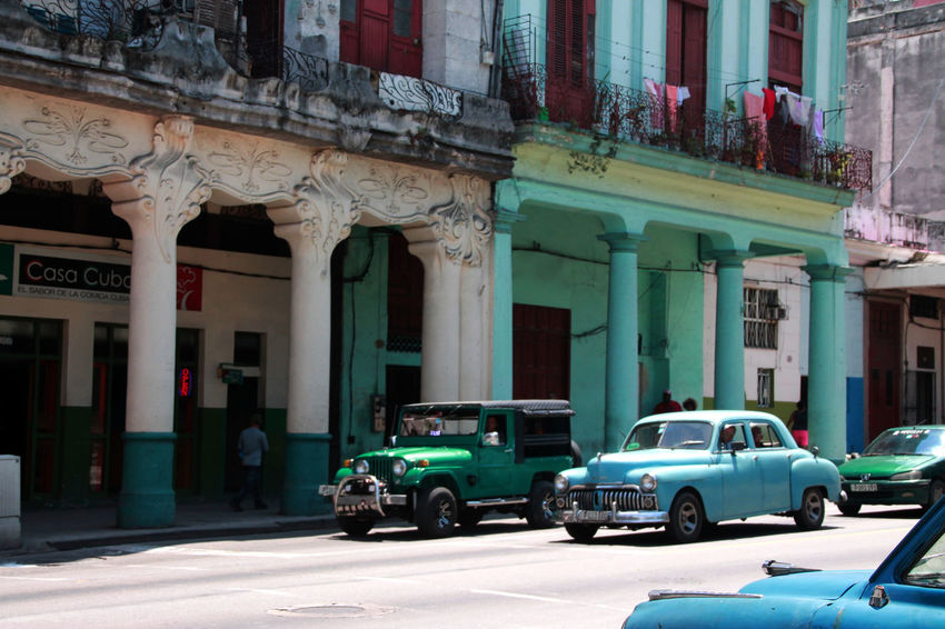 Been There. Havanna, Cuba Architectural Column Architecture Building Exterior Built Structure Car City Day Havana Street Havana Vieja Land Vehicle Mode Of Transport No People Outdoors Transportation
