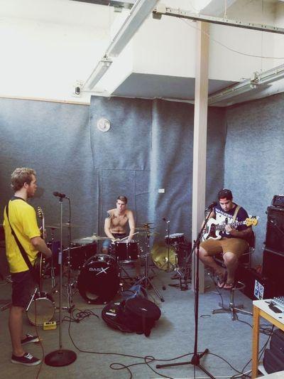 Practice makes perfect. Portrait Pop Punk Band Practice