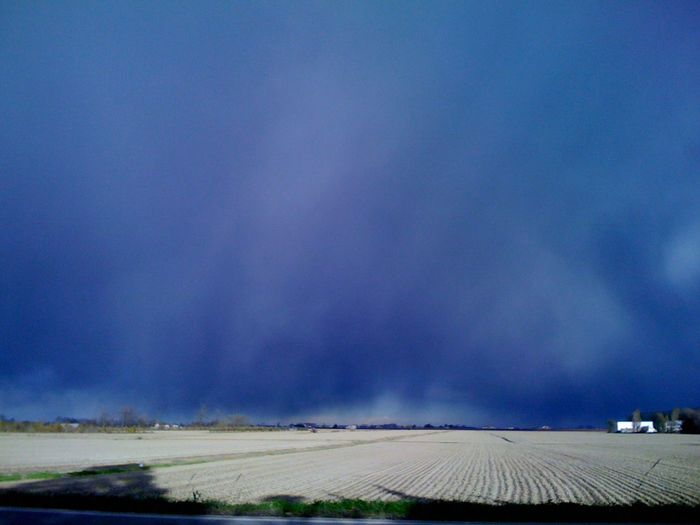 Thundersky blue Agriculture Beauty In Nature Day Field Grass Landscape Nature No People Outdoors Scenics Sky Thunderstorm Approaching Tranquil Scene Tranquility EyeEmNewHere