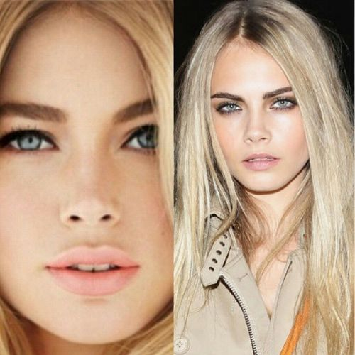 I want to be reincarnated with Doutzen's LIPS & Cara's EYEBROWS. <3 Ambisyosa DKroes CDelevigne