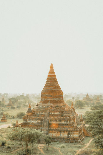 Architecture Ancient Ancient Civilization Archaeology Architecture Bagan Bagan, Myanmar Beauty In Nature Belief Building Exterior Built Structure Copy Space Fog History Nature No People Outdoors Place Of Worship Religion Sky Spirituality The Past Tourism Travel Travel Destinations