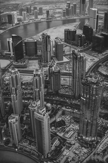 View on Dubai Big City Life City Life Dubai From Above  Sightseeing Skyline Skyscrapers United Arab Emirates Views Architecture Black And White Building Building Exterior Built Structure Burj Khalifa View City City From Above Cityscape Dubai From Above Dubai From The Sky Office Building Exterior Skyscraper Tourism Urban Urban Skyline