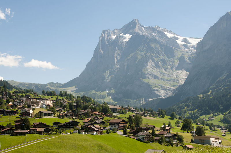 Gimmelwald Suisse  Alps Jungfrau Residential District Switzerland