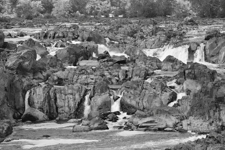 Greatfalls Virginia Waterfall Water_collection River Blackandwhite Photography Monochrome EyeEm Best Shots Eyemnaturelover Nature Photography