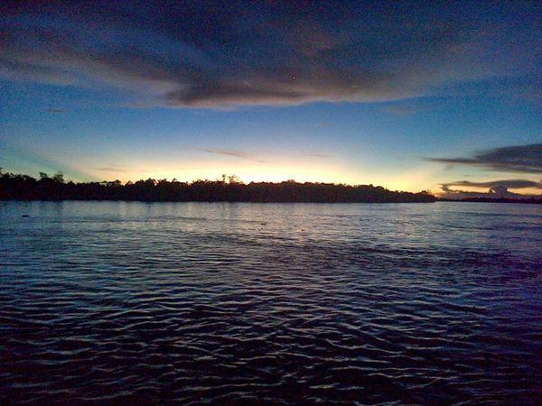 Sunset in borneo First Eyeem Photo Pesonaindonesia Photography Portrait Kalimantan Timur Iloveindonesia Borneoisland Sailing