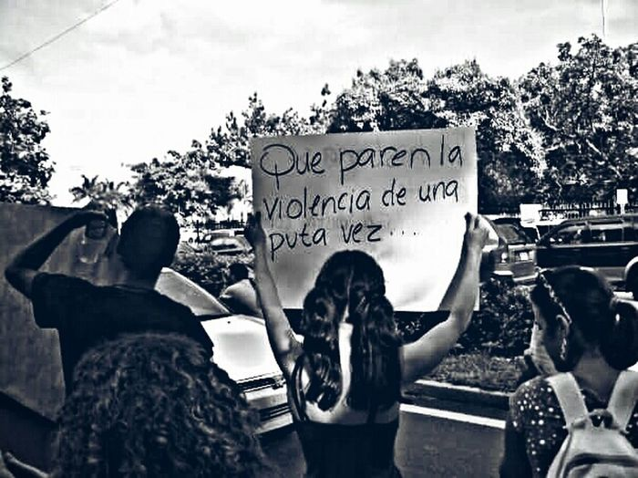 Protest People Of EyeEm People Puerto Rico PoliceBrutality Faces Of EyeEm Blackandwhite Black And White Black & White Stop Violence
