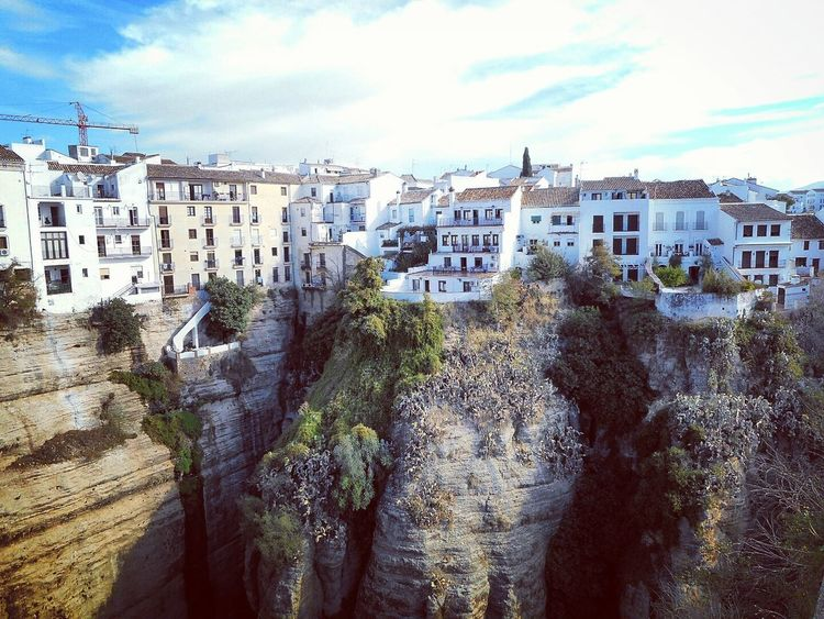 Architecture Building Exterior Check This Out Cityscapes Clouds And Sky Eye4photography  First Eyeem Photo Landscape Landscape_photography Let's Do It Chic! Nature Rocky Rocky Mountains Ronda Taking Photos Town Urban Landscape Wall White