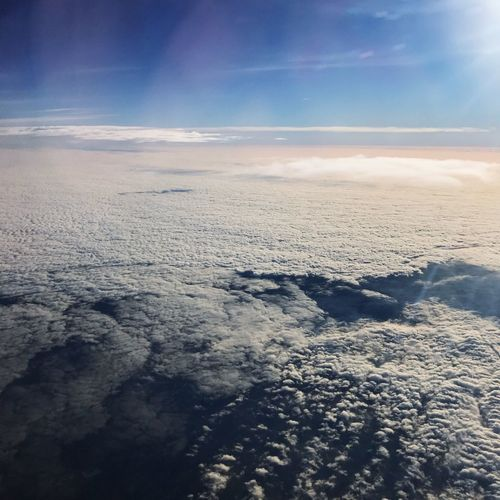 Sky Clouds Above The Clouds Horizon Over Water Nature Beauty In Nature Scenics Cloud - Sky Tranquility Tranquil Scene No People Outdoors Landscape Aerial View Day