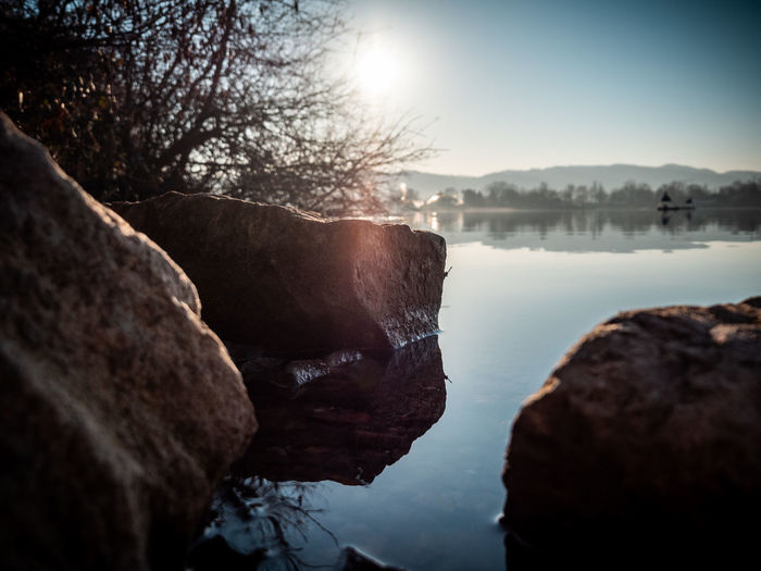 Water Sky Rock Rock - Object Solid Nature Scenics - Nature Tranquility Beauty In Nature Tranquil Scene Tree Rock Formation No People River Day Reflection Outdoors