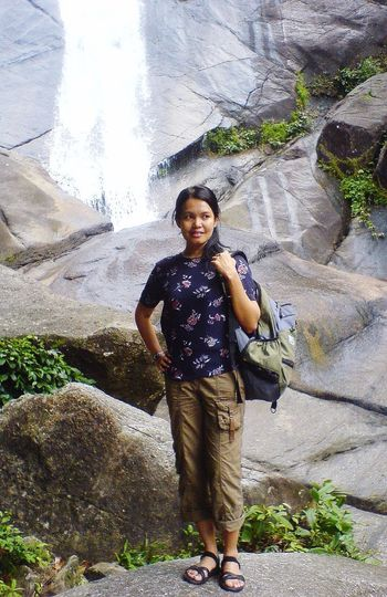 """She took me to places of beauty I could never imagine"" EyeEmNewHere Wife Explore Malaysian Jungle Water Pulau Langkawi, Malaysia Seven Wells Rock - Object Waterfall Full Length Rock Formation One Person Portrait Standing Day Outdoors Nature Young Adult Travel Destinations Real People"