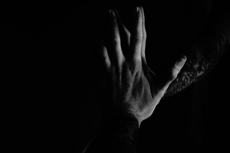 Human Hand Human Body Part Black Background Studio Shot Human Skin Men One Person Women Real People Human Back Indoors  Close-up Back Adult Day People Adults Only Black And White Collection  Monochrome Photography Self Portrait Tattoomodels Tattoos