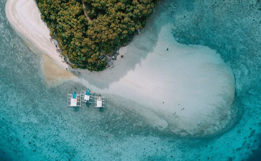Sumilon Drone  Philippines Sandbar Beach Cebu South High Angle View Aerial View Sea Water Beach Nautical Vessel Day Nature No People Outdoors
