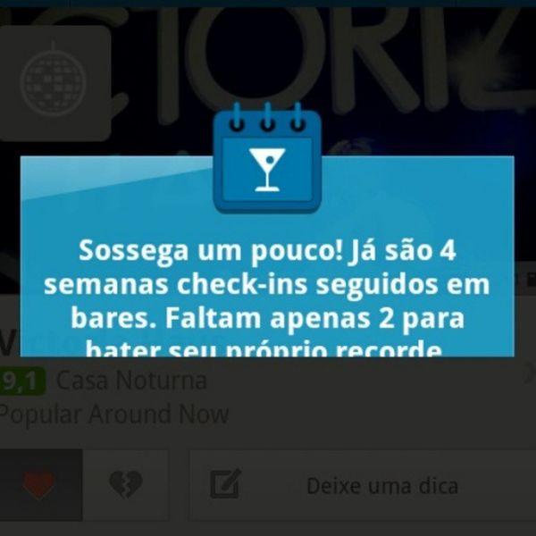 Super Foursquare ... Adivinha tudo! So que não! Checkin na Victoriahaus