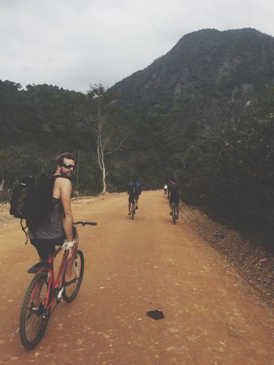 Enjoy The New Normal moments to cherish in Vangvieng Real People Bicycle Travel Outdoors Mountain