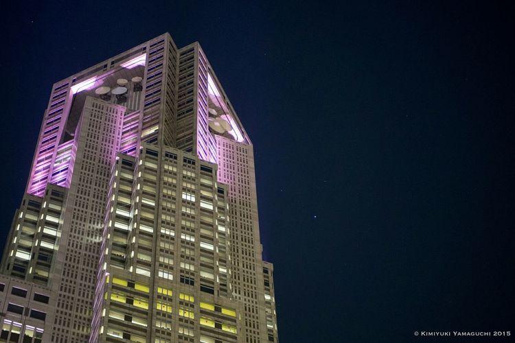 Pink Ribbon Festival Nightphotography Night View Night Lights Pink Ribbon Light Olympus Tokyo Metropolitan Government Building