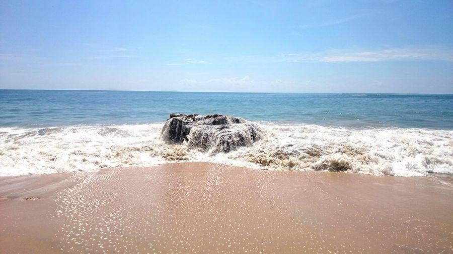 EyeEmNewHere Beach Nature Water Relax Sun Rock Rock In The Beach First Eyeem Photo