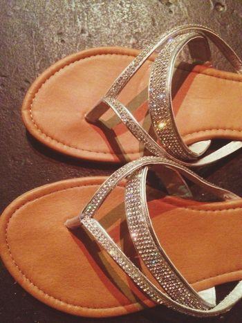 Beach Sandals Sparkles Silver  Cute Shoes Summer ☀ Beach School Shoes