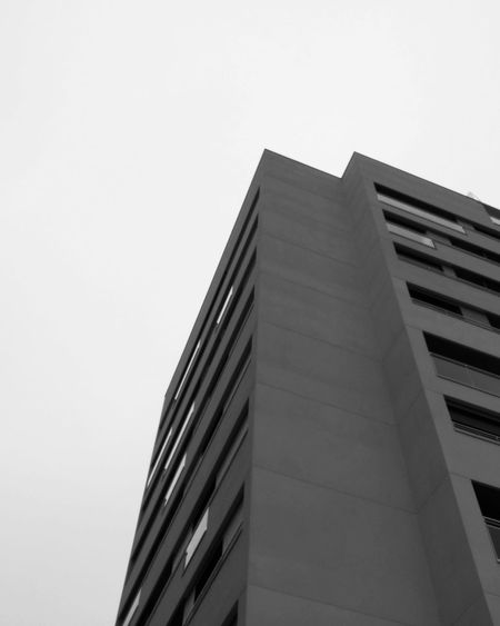 Architecture Built Structure Low Angle View Building Exterior No People Outdoors Day Sky City Skyscraper Close-up Black And White Hypocam Welcome To Black