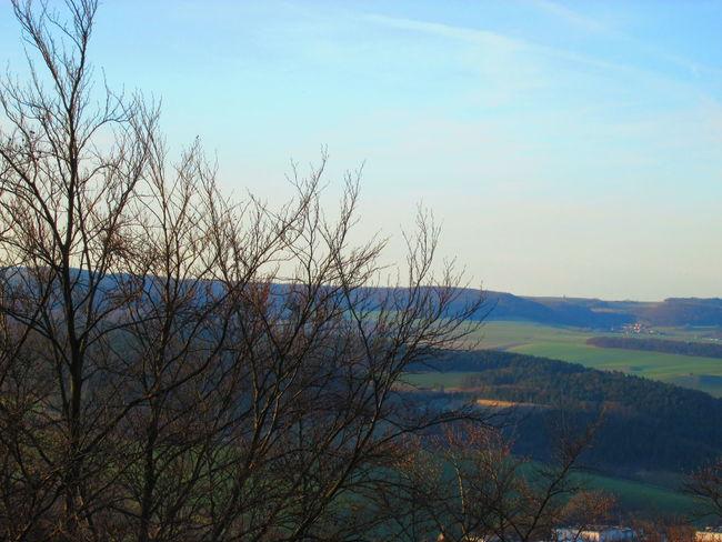 Hills Las Colinas  Blauer Himmerl Blue Sky Cielo Azul Das Eichsfeld / Auf Dem Hülfensberg Hügel