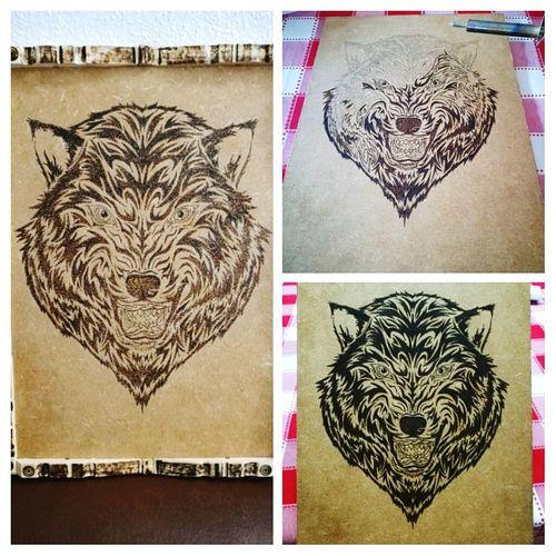 Quadro lobo Art Animal Representation Creativity