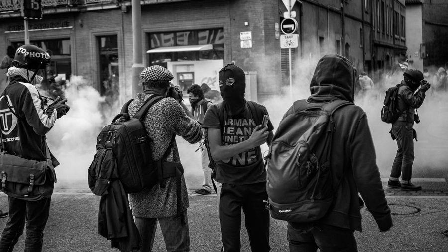 hood protestor