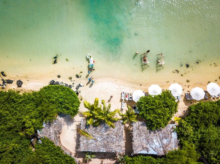 Aerial view of beach