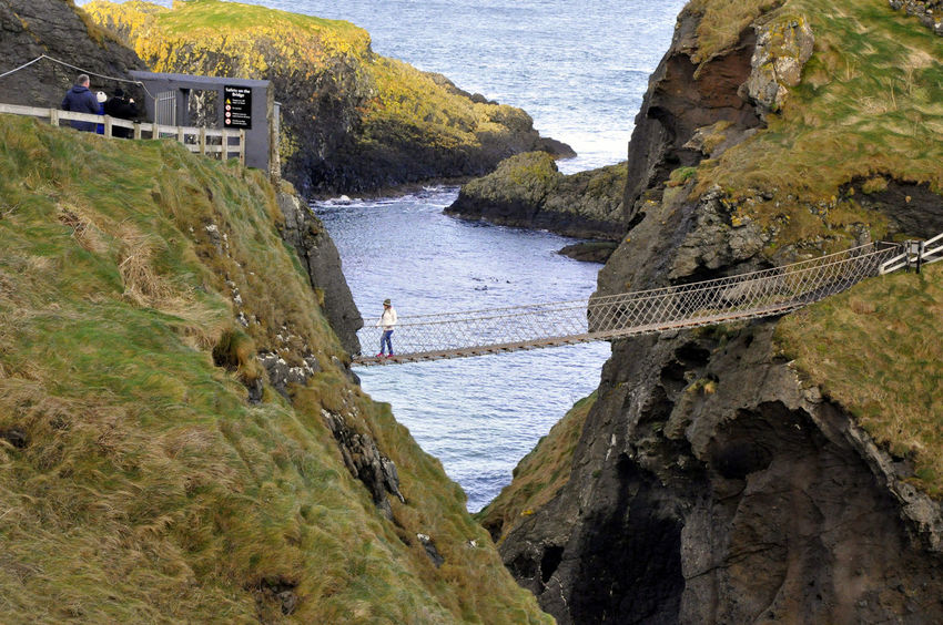 Carrick-a-Rede Rope Bridge Ballintoy Carrick-a-Rede Rope Bridge Northern Ireland Travel Traveling Winter