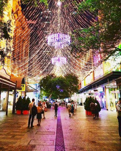 Christmas Lights People Pitt Street In Sydney Travel Destinations Festive Best Time Of The Year Australia