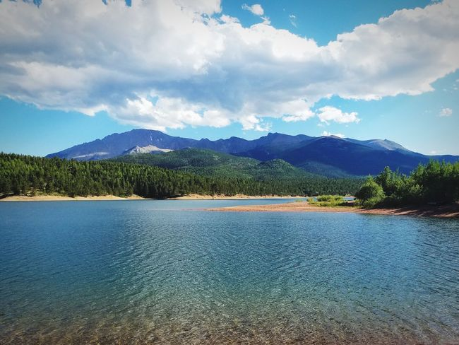 Mountain Lake Water Mountain Sky Scenics - Nature Tree Cloud - Sky Beauty In Nature Nature Mountain Range Non-urban Scene No People Tranquil Scene Plant Tranquility Environment Land Day Lake Landscape Outdoors