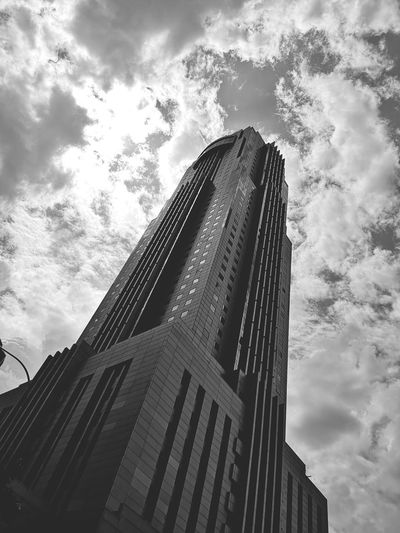 Into sky Cloud - Sky Light And Shadow Light Silver Colored Blackandwhite City Modern Skyscraper Pixelated Cityscape Urban Skyline Business Finance And Industry Sky Architecture Building Exterior Tall - High Tower Modern Art Office Building Office Building Exterior High Rise Tall Building Story Financial District  Skyline Settlement 17.62°