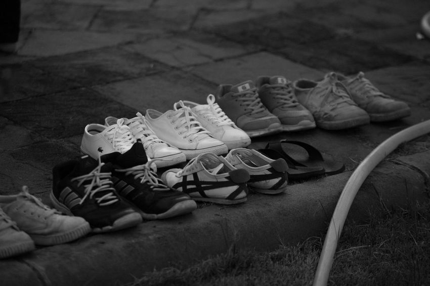 RAMA9 I Love King Sad Day Thailand Black Black And White Childhood Close-up Day High Angle View Low Section Lying Down No People Outdoors Pair Shoe Shoes