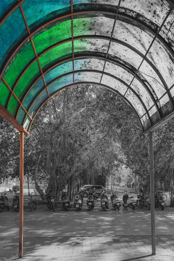 Dont let time fade the colors. Architecture Day No People Built Structure Colour Colorsplash Shade Canopy Partial Color Fade Google Pixel Teampixel