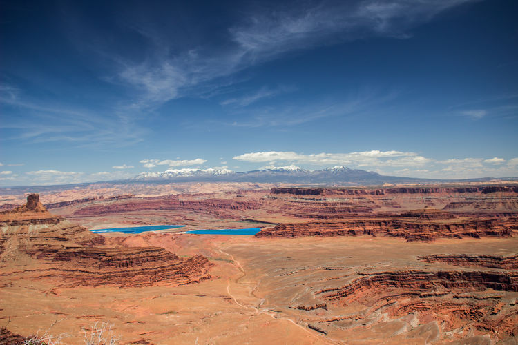Scenic View Of Dead Horse Point State Park Against Sky In Utah