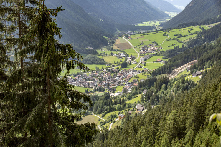 Antholz Mittertal Architecture Beauty In Nature Built Structure Day Environment Green Color Growth Land Landscape Mountain Mountain Range Nature No People Non-urban Scene Outdoors Plant Rolling Landscape Scenics - Nature Tranquil Scene Tranquility Tree