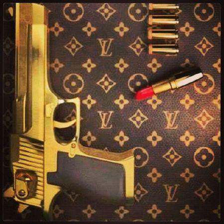 9mm Gold Luis Vuitton lipgloss
