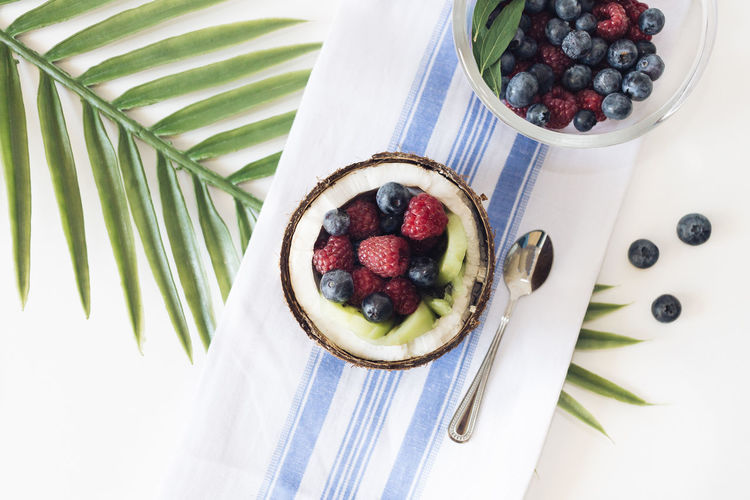 Berry salad in