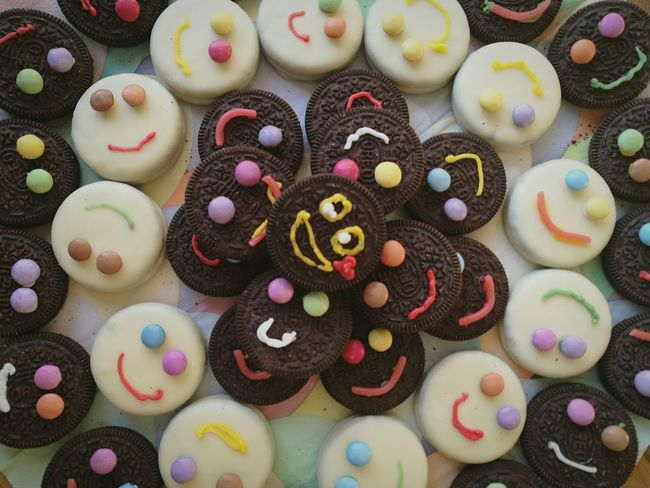 Sweet Food Temptation Food Multi Colored Variation Smiley Face Birthdaytreats Oreo Happy Face!
