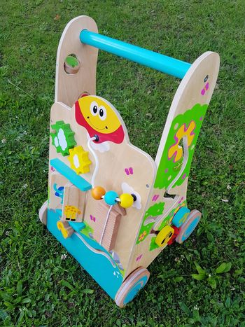 Grass High Angle View Green Color No People Day Outdoors Close-up Childs Toy Wooden Toy Walker Toy