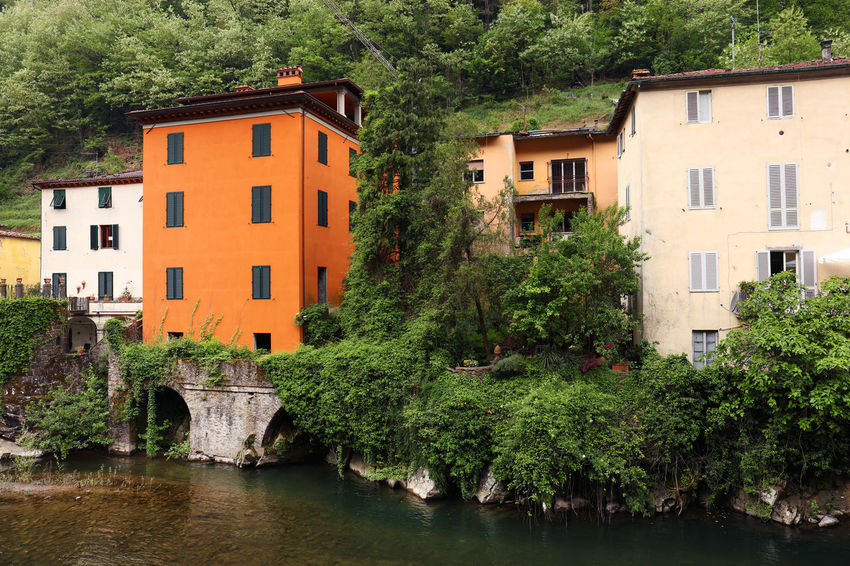 Architecture Architecture_collection Europe Trip Travel Travel Photography Tuscany Tuscany Countryside Architecture Bagni Di Lucca Bridge Built Structure Europe Lake Nature No People Plant River Summer Travel Destinations Tuscany Italy Water Waterfront