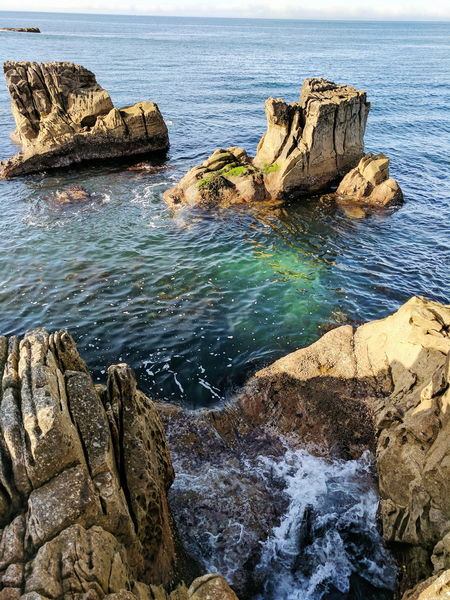 Crashing waves at UK Seaa Canyon Ocean View Ocean Waves Blue Ocean Sea Rock - Object Water Beach Rock Formation Nature Rock Beauty In Nature Tranquility Wave Outdoors