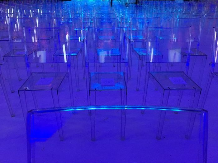 Blue Chairs , Geometry Abstract Abstractart Chair Kartel Minimalism Architecture