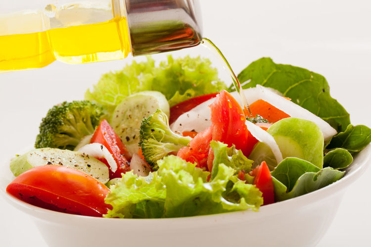 Close-up of salad served in bowl